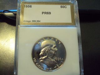 Coinhunters - 1956 Franklin Silver Proof Half Dollar,  Gem Proof photo