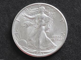 1943 - P Liberty Walking Half Dollar 90% Silver U.  S.  Coin D6534 photo