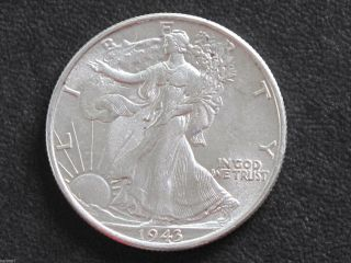 1943 - P Liberty Walking Half Dollar 90% Silver U.  S.  Coin D6537 photo
