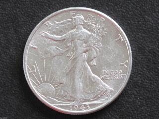 1943 - P Liberty Walking Half Dollar 90% Silver U.  S.  Coin D6539 photo