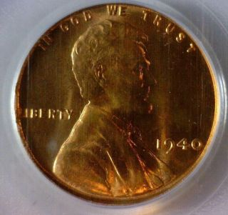1940 & 1940 - D,  Pcgs Ms - 66 Red,  Lincoln Wheat Cents photo