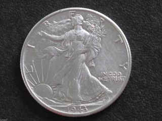 1943 - P Liberty Walking Half Dollar 90% Silver U.  S.  Coin D6547 photo