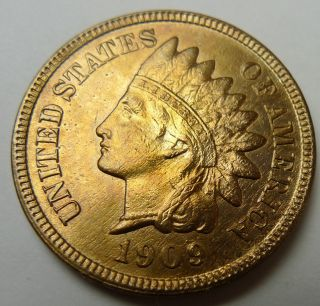 1909 - S San Francisco Indian Head Cent - Uncirculated Details photo