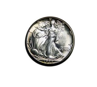 1944 - P Walking Liberty Silver Half Dollar Ch Bu Unc photo