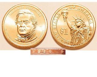 2010 - P $1 Millard Fillmore Presidential Dollar Us Coin photo