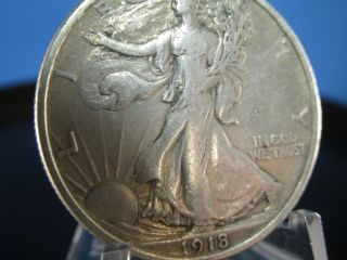 1918 Walking Liberty Half Dollar - Vf++/xf - Gorgeous Detail - Tough Semi Key Date photo