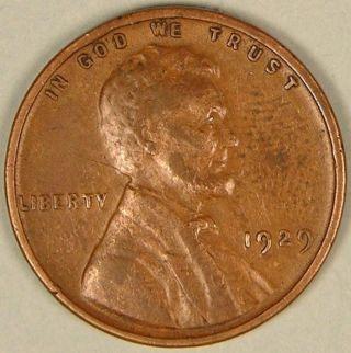 1929 P Lincoln Wheat Penny,  Ek 550 photo