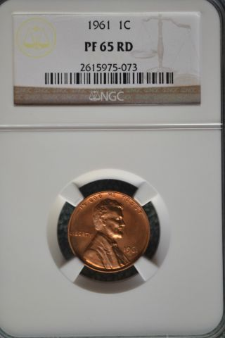 1961 Lincoln Penny Cent 1c Ngc Pf65 Red photo