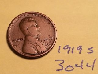 1919 S Lincoln Cent Fine Detail Great Coin (3044) Wheat Back Penny photo