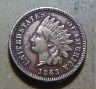 1863 Indian Head Small Cent With Full Liberty (08) photo