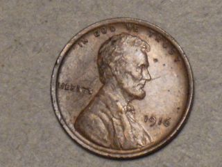 1916 Lincoln Wheat Cent (au+) 3794a photo