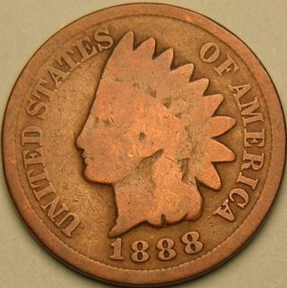 1888 Indian Head Penny,  Ac 966 photo