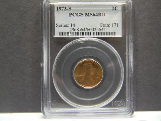 1973 - S Pcgs Ms64rd Lincoln Penny photo