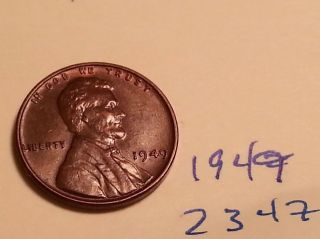 1949 Lincoln Wheat Cent Very Good Luster (2222) photo