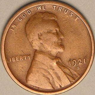 1921 S Lincoln Wheat Penny,  Less Than 16 Million Made,  Aa - 868 photo