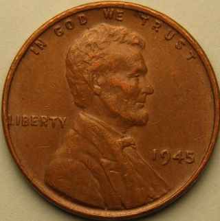 1945 P Lincoln Wheat Penny,  Ae 234 photo