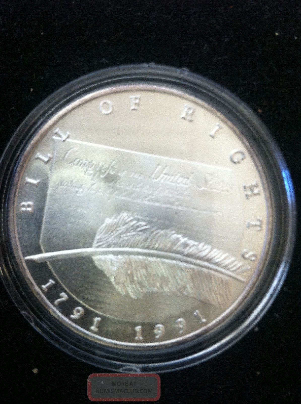1791 1991 Bill Of Rights Commemorative Silver Coin 1