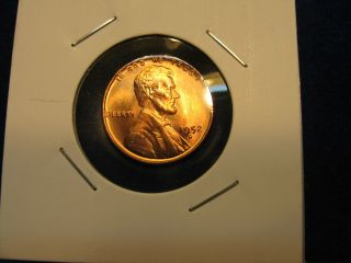 1952 - D Lincoln Wheat Cent Gem Bu ++ Red Ms Us Coin photo