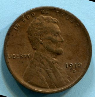 1912 - D Lincoln Cent Xf Au Estate Find photo