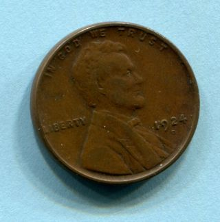 1924 - D Lincoln Cent Fine To Vf Estate Find photo