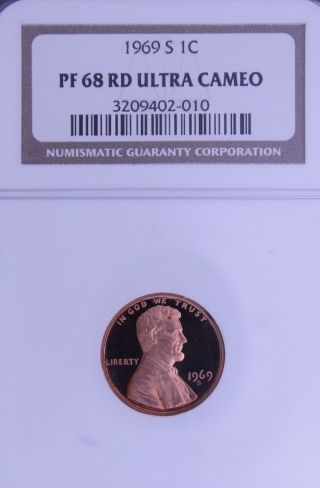 1969 - S Lincoln Ngc Pf 68 Rd Ultra Cameo.  Incredible Contrast.  1 Of 167. photo