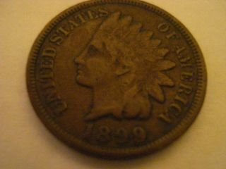 1899 Indian Head Penny Partial Liberty See Pics photo
