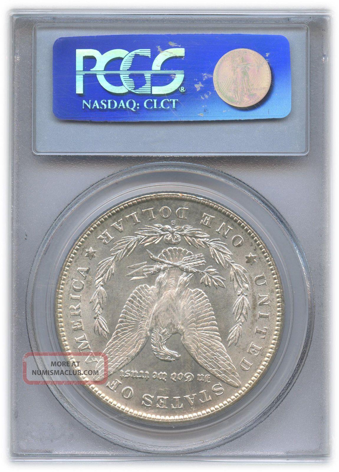 1878 S Morgan Dollar Ms 64 Pcgs Graded