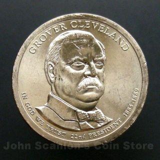 2012 - P Grover Cleveland First Term Presidential Dollar - Choice Bu photo
