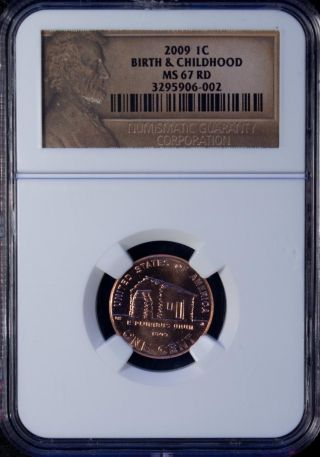 2009 Usa 1 Cent Ngc Ms 67 Rd Unc Birth & Childhood photo