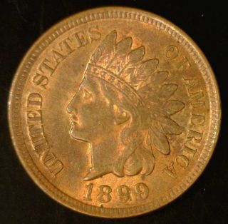 1899 1c Indian Head Cent Choice Bu Rb Lustrous And photo