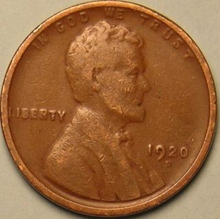 1920 D Lincoln Wheat Penny,  Ab - 60 photo