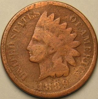 1889 Indian Head Penny,  Ac - 291 photo