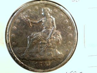 1877 S Trade Dollar In Vf This Is A Polished Coin photo