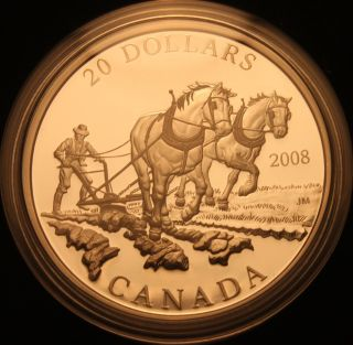 Canada 2008 $20 Silver Proof; Industry Series - Agriculture Trade photo