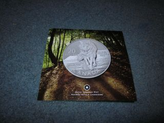 2013 Rcm $20 For $20 Fine Silver Coin - Wolf photo