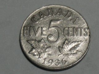 1936 Canadian Nickel 2968 photo