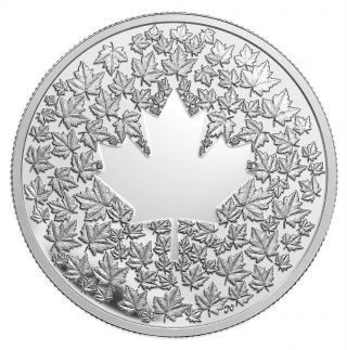 2013 Canada $3 Maple Leaf Impression Fine Silver Coin (no Tax) Rare Mintage photo