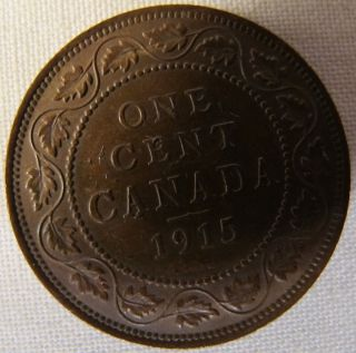 1915 Canada Large Cent Penny Please See Pictures And Description Low Mintage photo