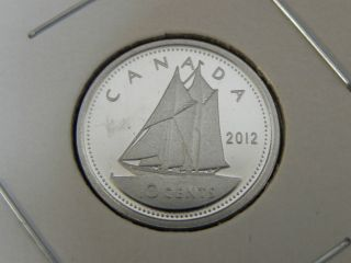 2012 Proof Nickel Unc Canadian Canada Bluenose Dime Ten 10 Cent photo
