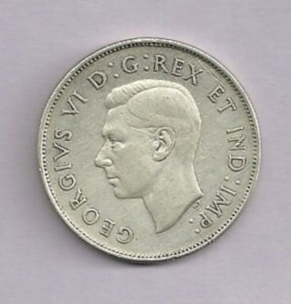 1942 Wd Canada 80% Silver 50 Cent photo