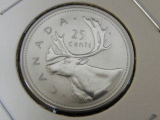 2002p Specimen Unc Canadian Canada Caribou Quarter Twenty Five 25 Cent photo