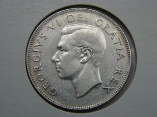 1950 Canada 50 Cent.  800 Silver Full Design photo