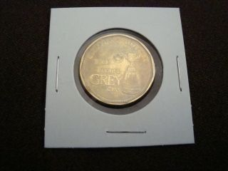 Grey Cup Football Centennial 2012 Canada Htf Low Loonie Dollar Coin Circ photo