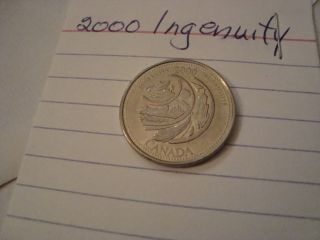 2000 Canada Special Issue 25 Cent Ingenuity Quarter Htf Coin Low ? photo