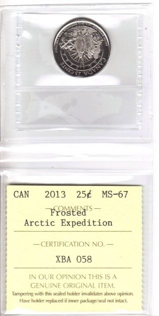 Canada 2013 25 Cents Iccs Ms - 67