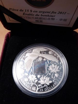 2011 - $15 Fine Silver Coin - Maple Of Happiness - photo