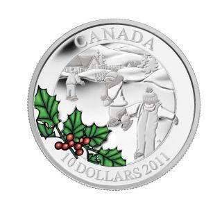 2011 Canada $10 Little Skaters Fine Silver Coin. photo