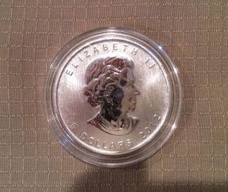 2012 Canadian 1oz.  9999 Silver Cougar Coin In Air - Tite - Error photo
