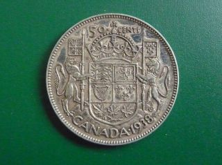 1938 Silver Canadian 50 Cent Piece photo