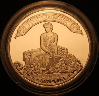 Canada 2010 $10 Silver Proof; 75th Anniversary Of The First Bank Notes In Canada photo
